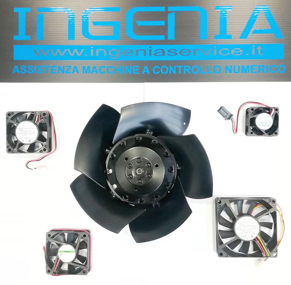Fornitura ventole motore mandrino e ventole azionamenti © Ingenia