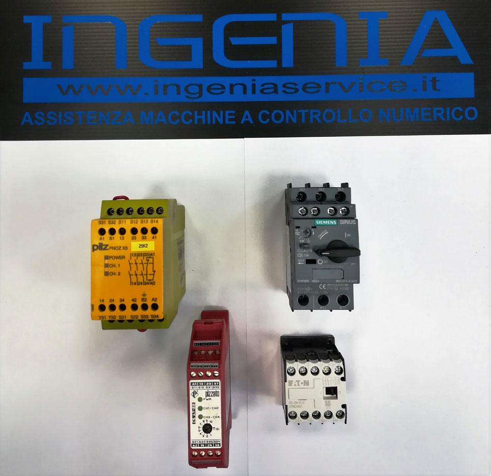 Fornitura moduli sicurezzza PILZ, PIZZATO, termiche, teleruttori SIEMENS, EATON © Ingenia
