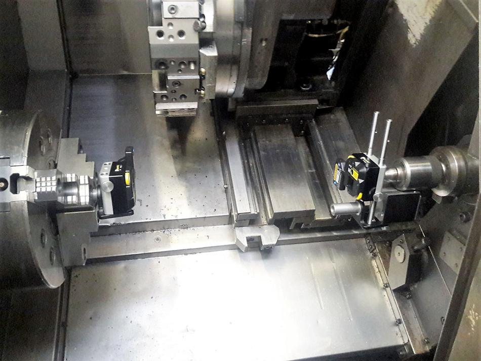 Verifica allineamento mandrino tornio con sistema laser © Ingenia