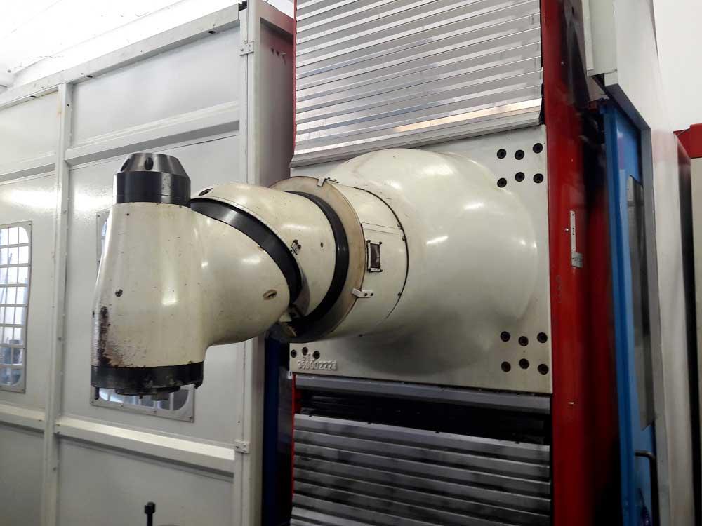 Revisione e rimontaggio in macchina testa birotativa fresatrice STS © Ingenia