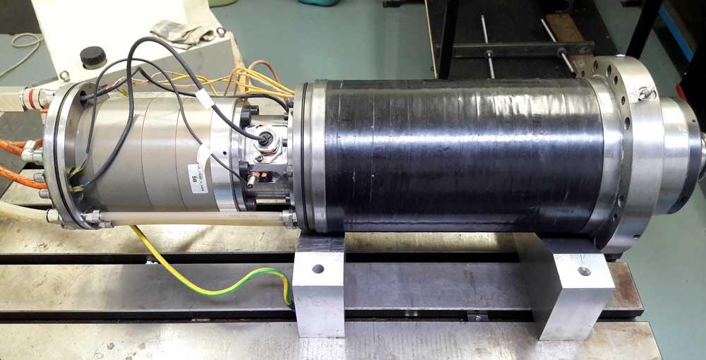 Revisione elettromandrino WEISS 26,4KW 15.000 RPM © Ingenia