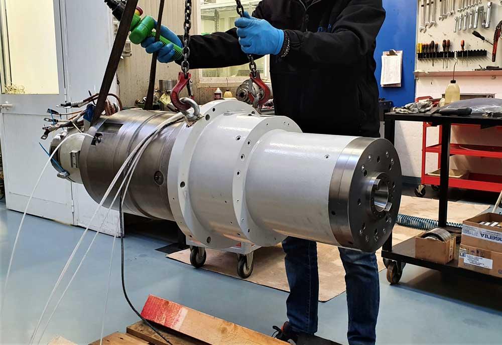 Revisione elettromandrino CL orizzontale MAZAK FH6800 © Ingenia